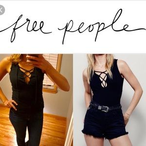 Free people lace up tank